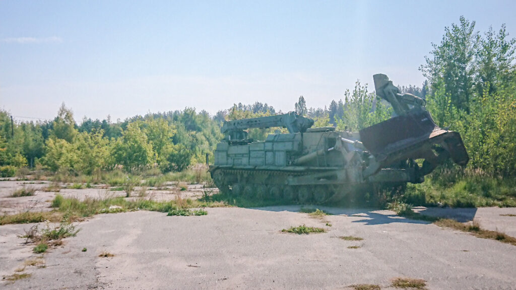 Tank in the Exclusion Zone border