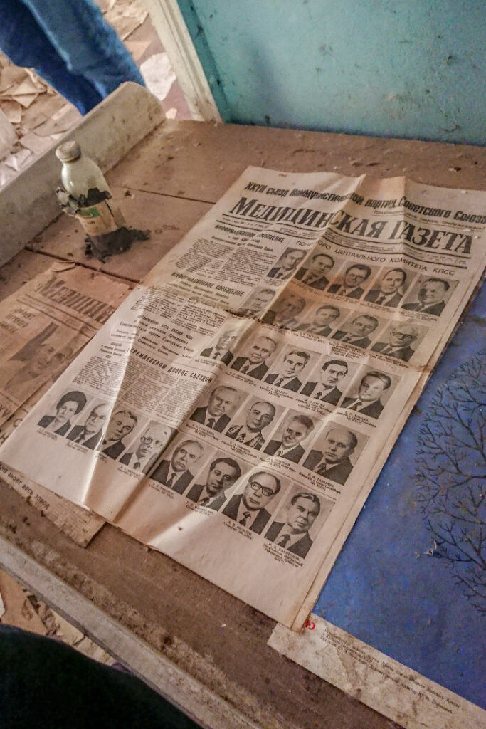 Newspaper from Chernobyl