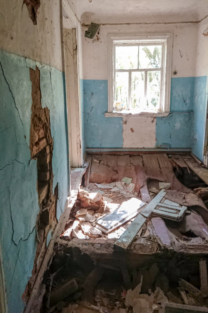 Zalissya house interior at Chernobyl