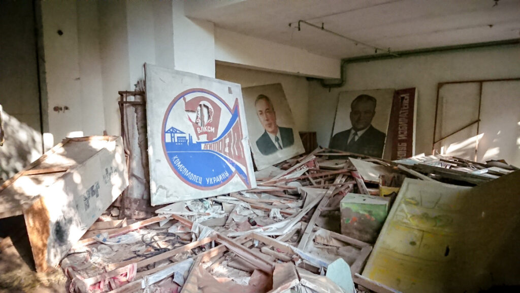 Soviet propaganda in Pripyat